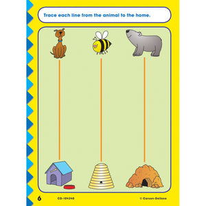 Carson Dellosa Get Ready for Kindergarten activity book sample page