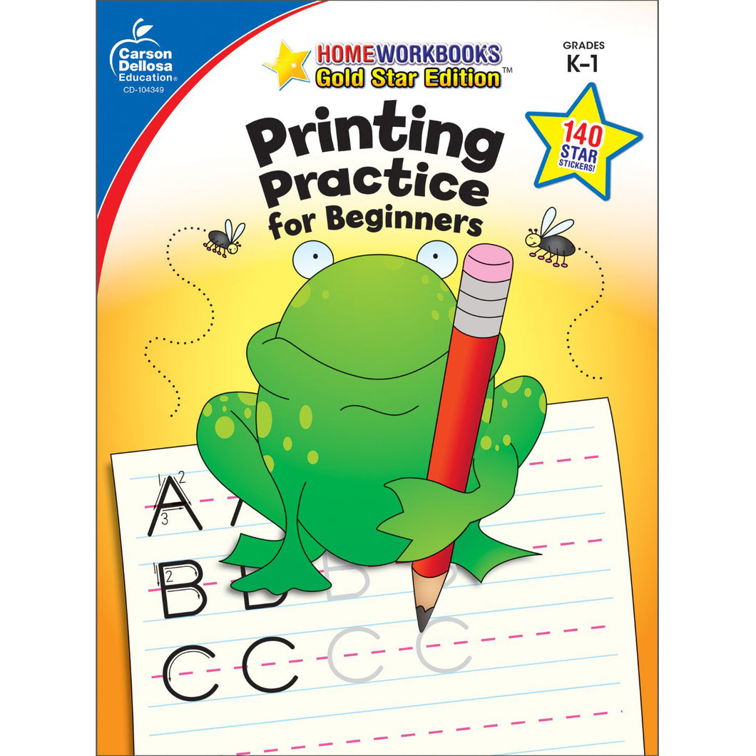 Carson Dellosa Printing Practice for Beginners activity book