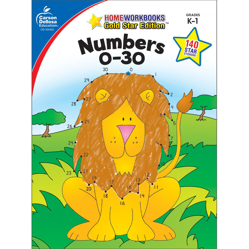 Carson Dellosa Numbers 0-30 activity book