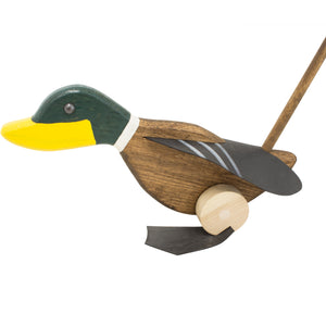 Push Me Wooden Duck toy