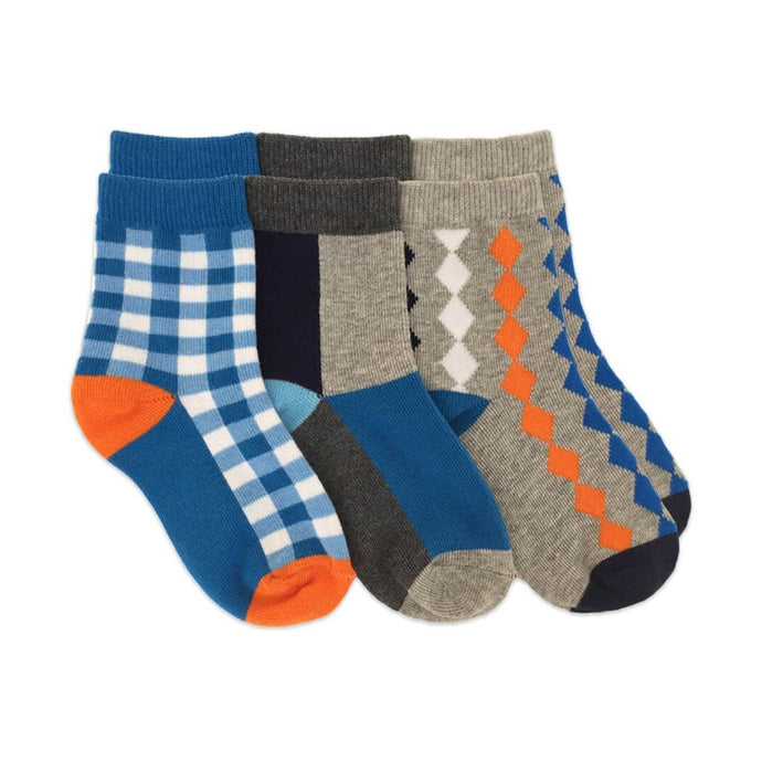 Boys Patterned Dress Crew Socks 1162 Pack of 3