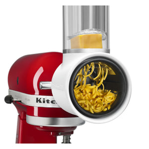 Shredding cheese with mixer