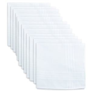 12 men's handkerchiefs