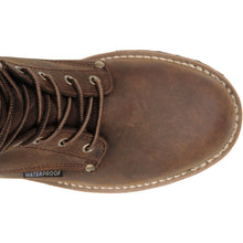 Top view of Carolina leather work boot.