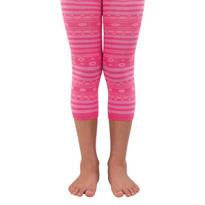 Girls Stripes & Dots Capri Tights 1537