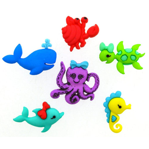 Sea creature buttons