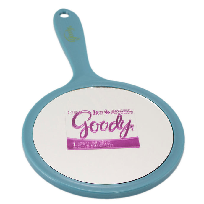 Two-sided Goody hand mirror.