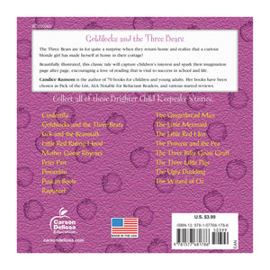 Goldilocks & the Three Bears book back cover