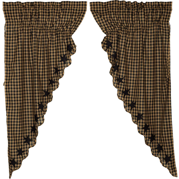 Victorian Heart Black Star Prairie curtains.