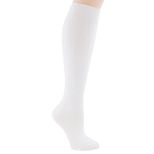 White knee-high socks.