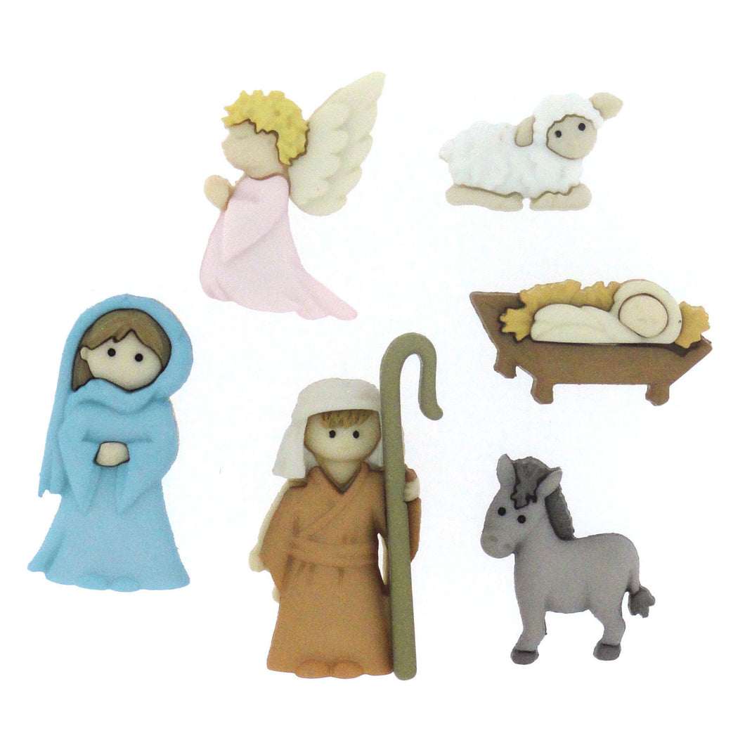 Holiday Nativity Button Set