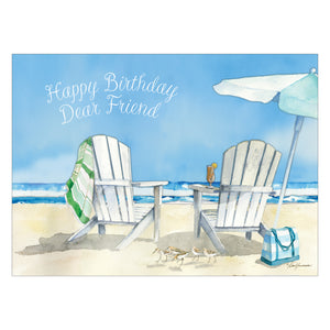 Beach chairs card.