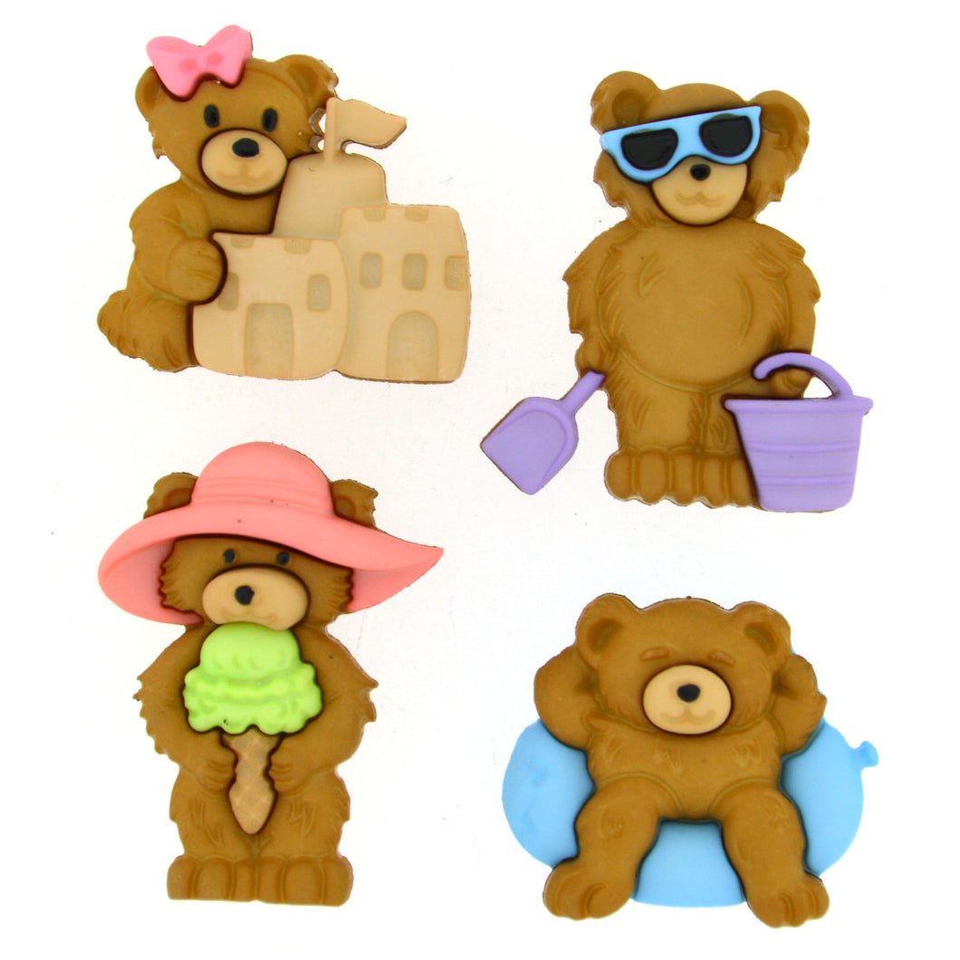 Dress It Up Buttons Summer Bears 8314