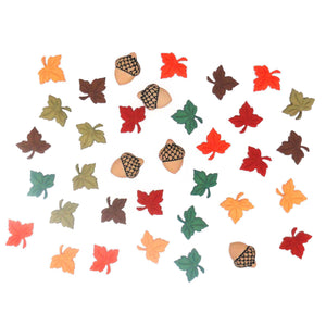 Assortment of tiny fall buttons.