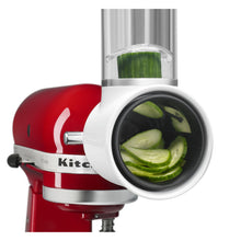 Slicing cucumbers with KitchenAid mixer