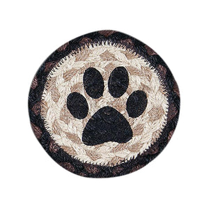 Coaster Cat Paw Braided Jute coaster.