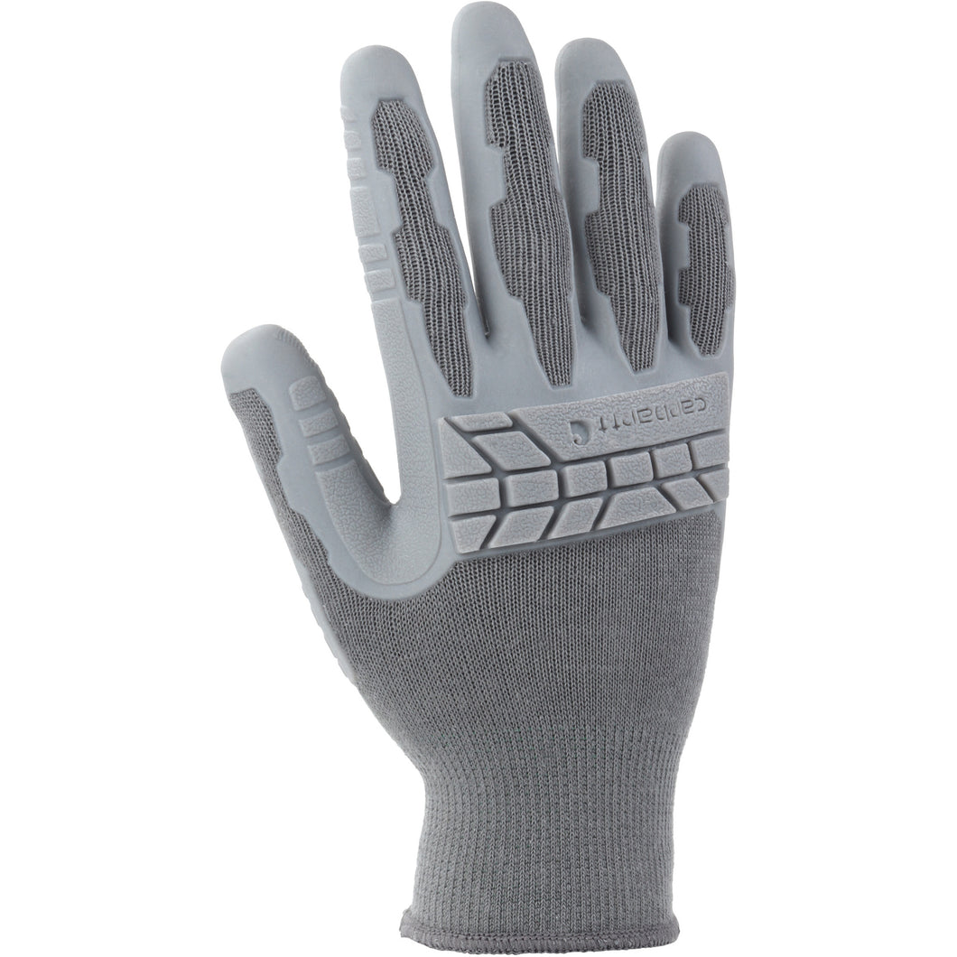Women's gray Carhartt work glove.