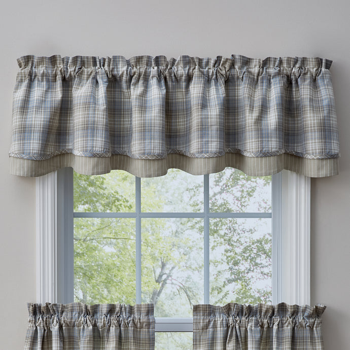 Praire Wood Linded Layed Valance.