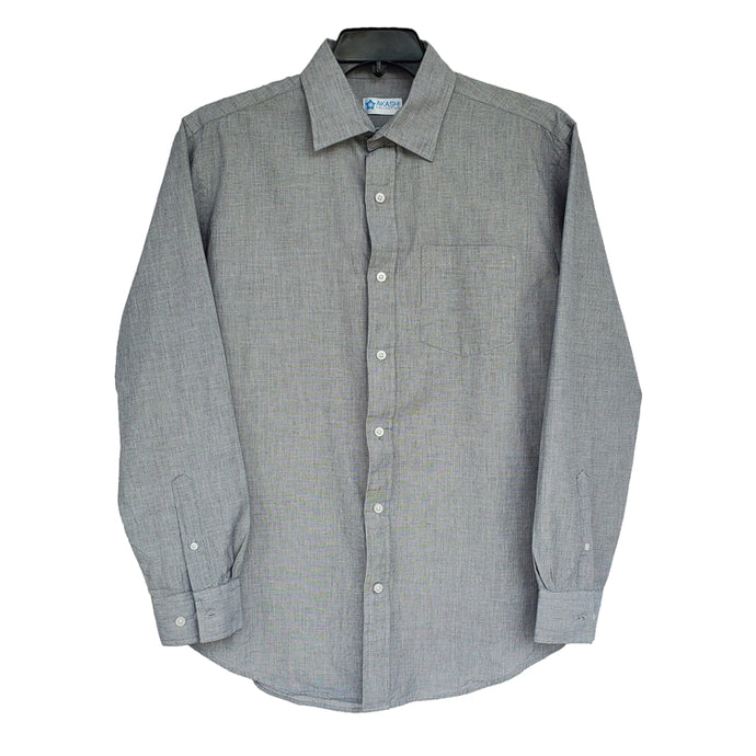 Boy's Medium Gray Dress Shirt 20202808