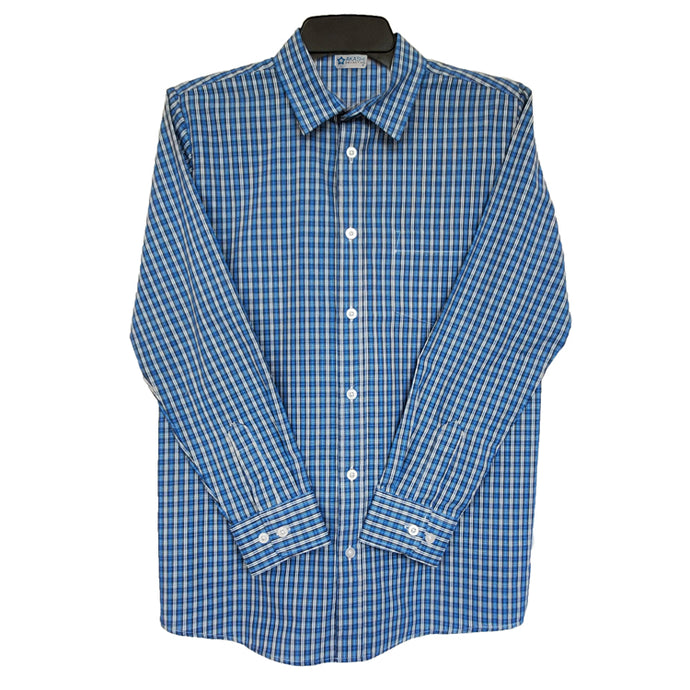 Boy's Button Down Plaid Dress Shirt 20202813