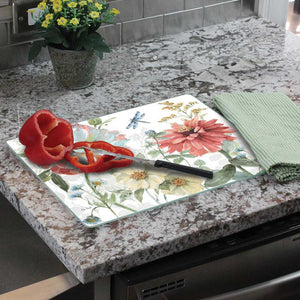 Classy Glass Cutting Boards Spring Meadow