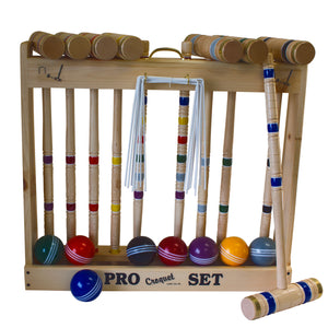 Handcrafted Croquet Set.