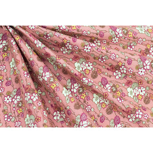 Cotton Corduroy Floral Fabric 22-10784