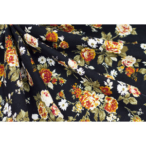 Cotton Corduroy Floral Fabric 22-10789