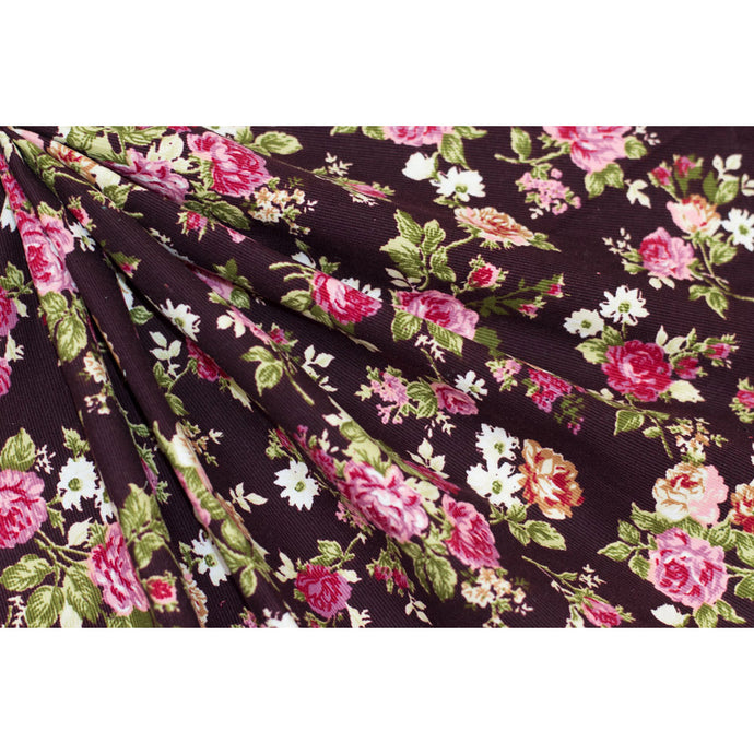 Cotton Corduroy Floral Fabric 22-10794
