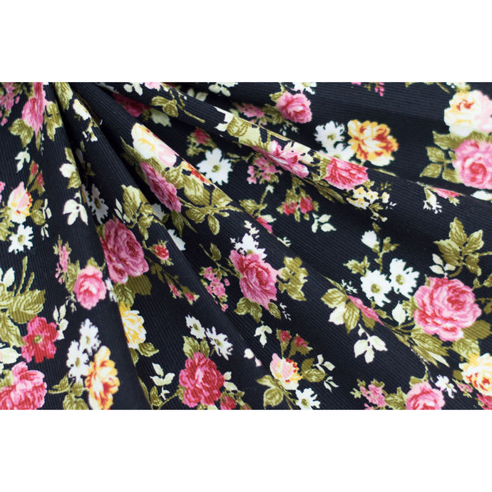 Cotton Corduroy Floral Fabric 22-10797