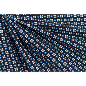 Cotton Corduroy Blue Diamond Fabric 22-10800