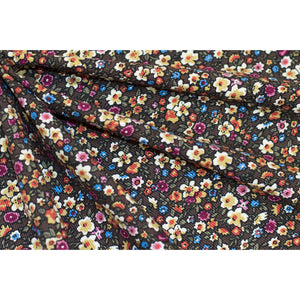 Cotton Corduroy Floral Fabric 22-11212