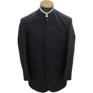 Black suitcoat with pinstripes