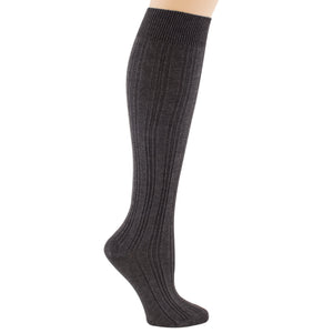 Women's Charcol knee-high sock.