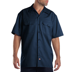 Dickies mens short sleeve shirt navy.