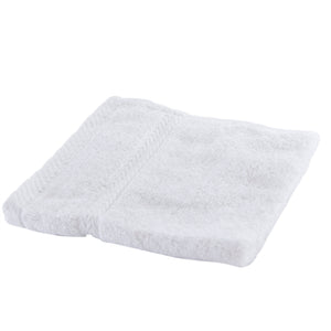 White washcloth.