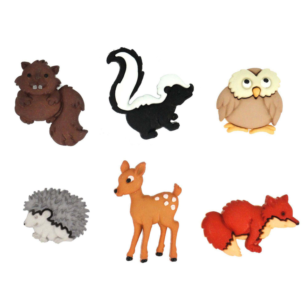 Baby wild animal buttons.
