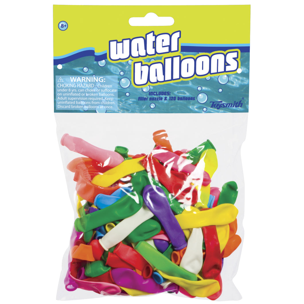 water balloons pack with nozzle 120 count