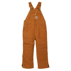 Lined bib overalls for boys.
