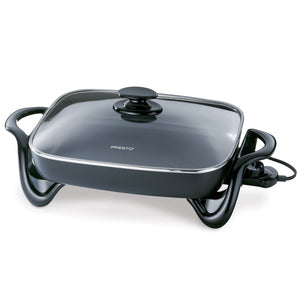 Presto 06852 electric skillet with glass cover.