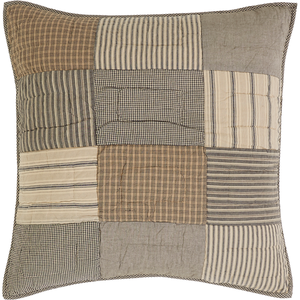 Quilted patchwork pillow.