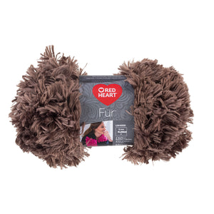 Mink Red Heart Fur Yarn.