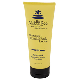 Tube of The Naked Bee Lavendar & Beeswax Absolute hand & body lotion.
