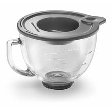 Glass mixing bowl for tilt-head mixer