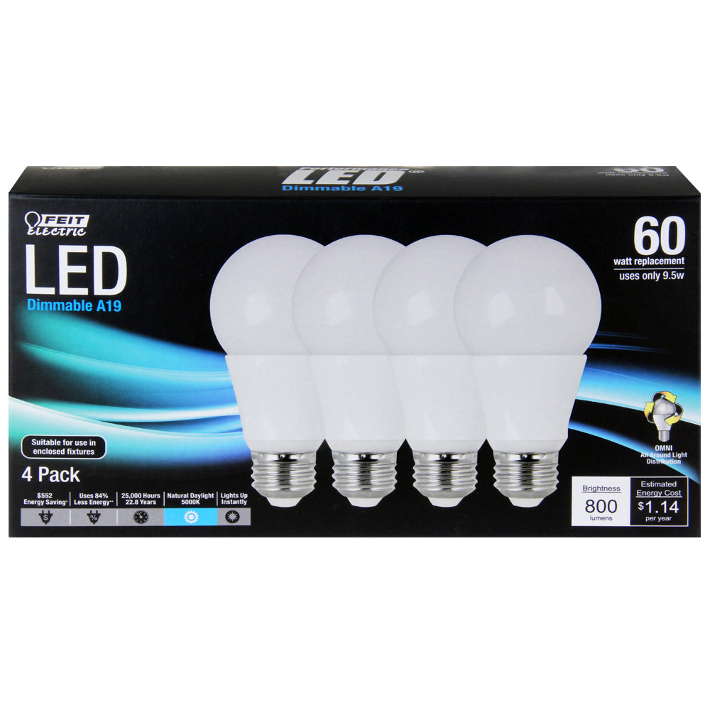 Pack of 4 LED Feit light bulbs