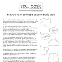 Instructions for dress patterns.