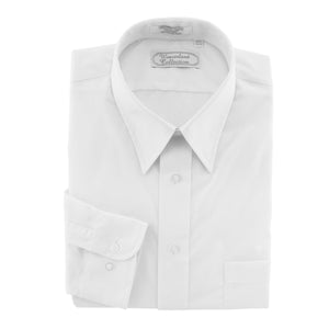 White Dress Shirt Long-sleeved broadcloth Weaverland Collection.