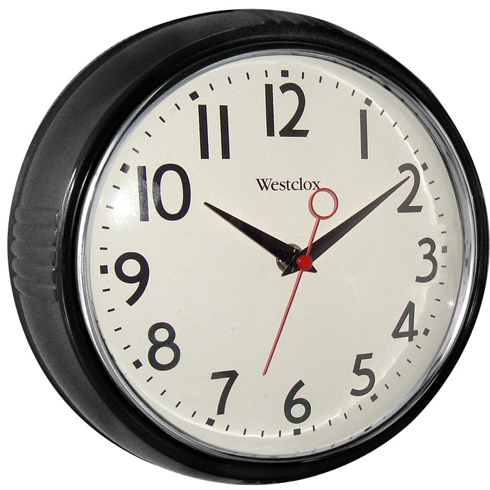 Westclox 1950 Retro Round Wall Clock Black
