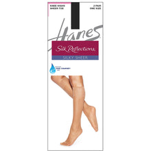 Hanes Knee High nylons jet black.