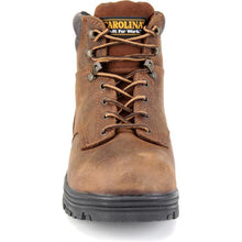 Carolina Waterproof work boot, front view.